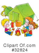 Camping Clipart #32824 by Alex Bannykh