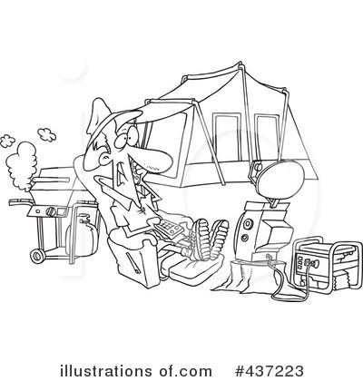 Royalty-Free (RF) Camping Clipart Illustration by toonaday - Stock Sample #437223