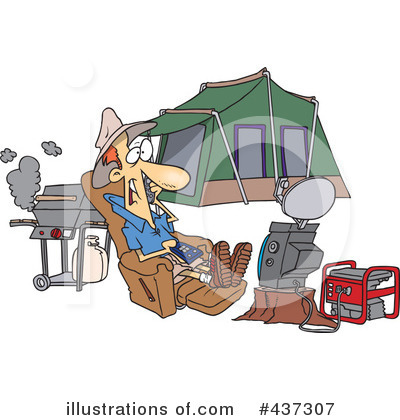 Camping Clipart #437307 by toonaday
