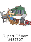 Royalty-Free (RF) Camping Clipart Illustration #437307