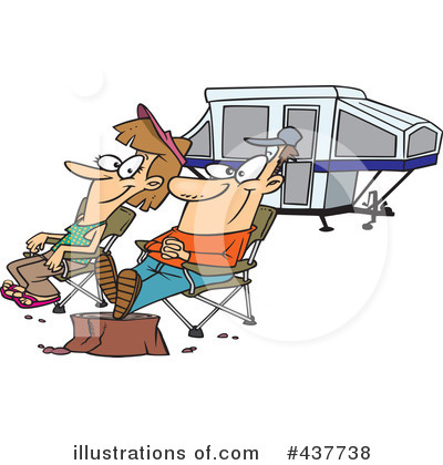Royalty-Free (RF) Camping Clipart Illustration by toonaday - Stock Sample #437738