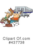 Royalty-Free (RF) camping Clipart Illustration #437738