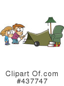Royalty-Free (RF) camping Clipart Illustration #437747