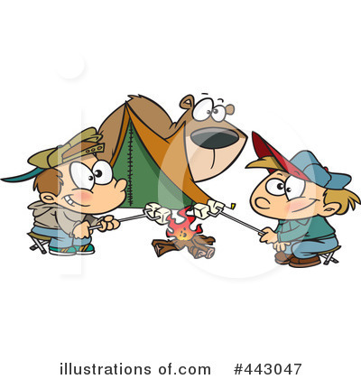 Camping Clipart #443047 by toonaday