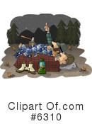 Royalty-Free (RF) Camping Clipart Illustration #6310