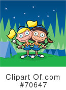 Royalty-Free (RF) Camping Clipart Illustration #70647