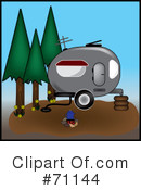 Royalty-Free (RF) camping Clipart Illustration #71144