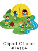 Royalty-Free (RF) camping Clipart Illustration #74104
