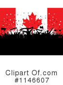 Royalty-Free (RF) Canadian Flag Clipart Illustration #1146607