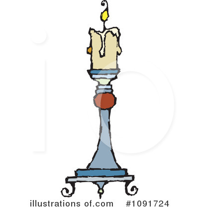 Candle Clipart #1091724 by Steve Klinkel