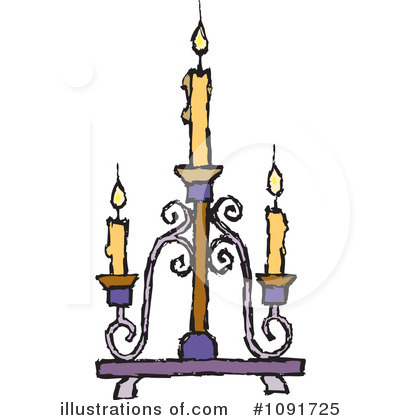 Royalty-Free (RF) Candle Clipart Illustration by Steve Klinkel - Stock Sample #1091725