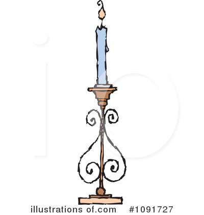 Candle Clipart #1091727 by Steve Klinkel