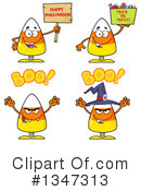 Candy Corn Clipart #1347313 by Hit Toon