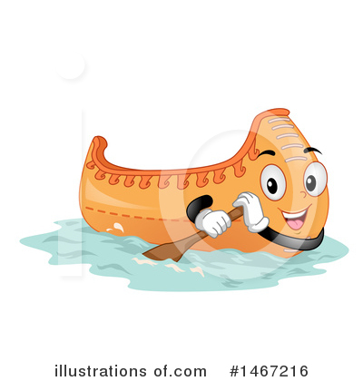 Canoe Clipart #1467216 by BNP Design Studio