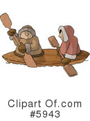 Royalty-Free (RF) canoe Clipart Illustration #5943