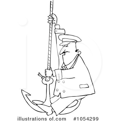 Royalty-Free (RF) Captain Clipart Illustration by Dennis Cox - Stock Sample #1054299