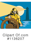Royalty-Free (RF) Captain Clipart Illustration #1136207