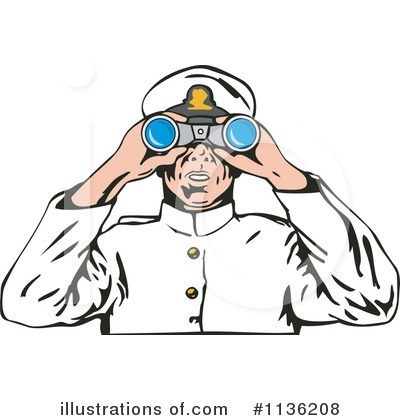 Royalty-Free (RF) Captain Clipart Illustration by patrimonio - Stock Sample #1136208