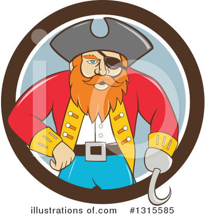 Royalty-Free (RF) Captain Clipart Illustration by patrimonio - Stock Sample #1315585