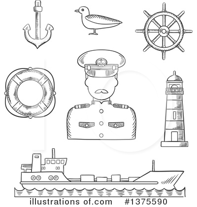 Lighthouse Clipart #1375590 by Vector Tradition SM