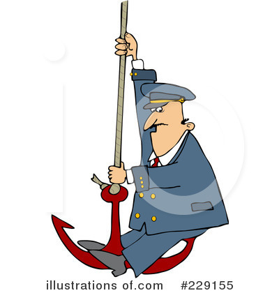 Royalty-Free (RF) Captain Clipart Illustration by Dennis Cox - Stock Sample #229155