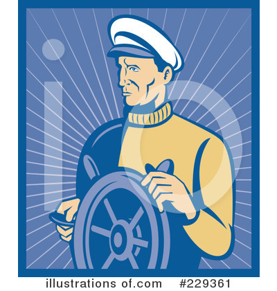 Royalty-Free (RF) Captain Clipart Illustration by patrimonio - Stock Sample #229361