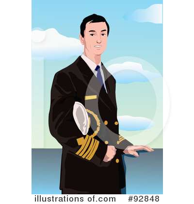 Royalty-Free (RF) Captain Clipart Illustration by mayawizard101 - Stock Sample #92848