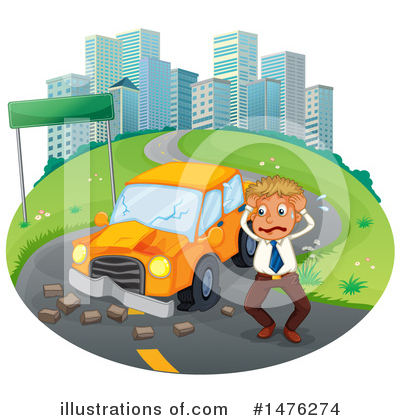 Car Wreck Clipart #1476274 by Graphics RF