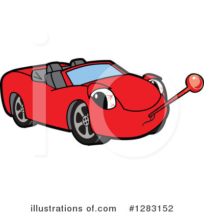 Car Character Clipart #1283152 by Toons4Biz