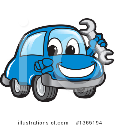 Royalty-Free (RF) Car Character Clipart Illustration by Toons4Biz - Stock Sample #1365194
