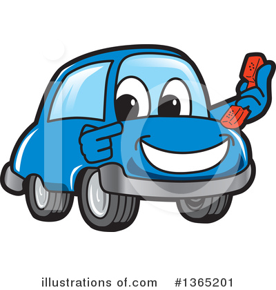Car Character Clipart #1365201 by Toons4Biz