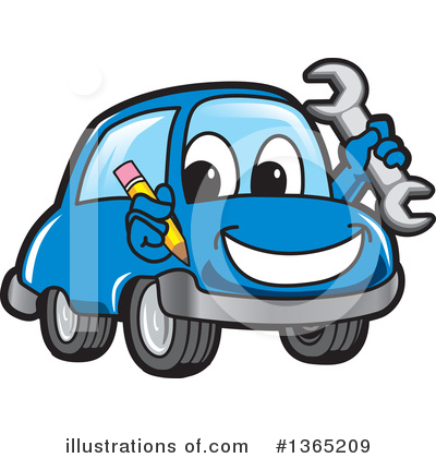 Car Character Clipart #1365209 by Toons4Biz