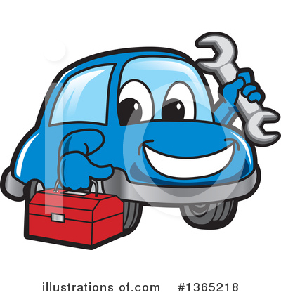 Car Character Clipart #1365218 by Toons4Biz