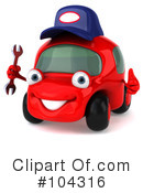 Royalty-Free (RF) Car Clipart Illustration #104316