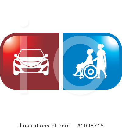 Wheelchair Clipart #1098715 by Lal Perera