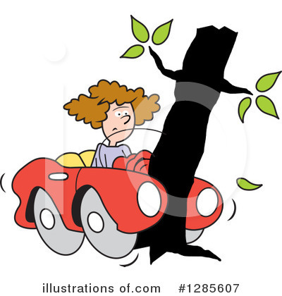 Car Wreck Clipart #1285607 by Johnny Sajem