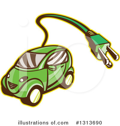 Royalty-Free (RF) Car Clipart Illustration by patrimonio - Stock Sample #1313690