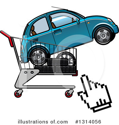 Shopping Cart Clipart #1314056 by Vector Tradition SM