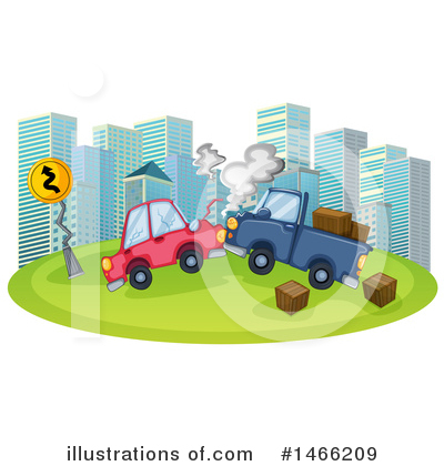 Car Wreck Clipart #1466209 by Graphics RF
