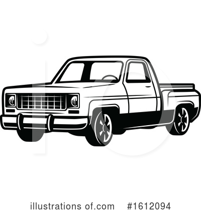 Truck Clipart #1612094 by Vector Tradition SM