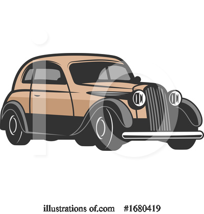 Royalty-Free (RF) Car Clipart Illustration by Vector Tradition SM - Stock Sample #1680419