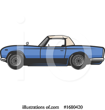 Royalty-Free (RF) Car Clipart Illustration by Vector Tradition SM - Stock Sample #1680420