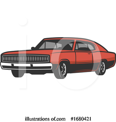 Royalty-Free (RF) Car Clipart Illustration by Vector Tradition SM - Stock Sample #1680421