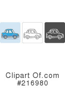 Royalty-Free (RF) Car Clipart Illustration #216980