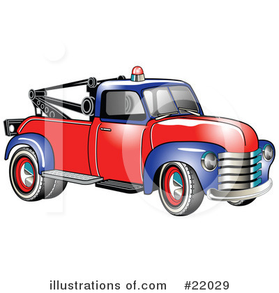 Tow Truck Clipart #22029 by Andy Nortnik
