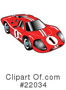 Royalty-Free (RF) Car Clipart Illustration #22034