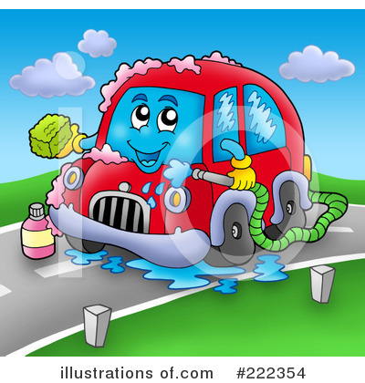 Royalty-Free (RF) Car Clipart Illustration by visekart - Stock Sample #222354