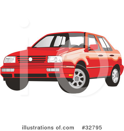 Royalty-Free (RF) Car Clipart Illustration by David Rey - Stock Sample #32795