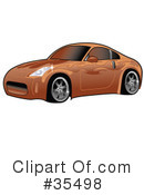 Royalty-Free (RF) Car Clipart Illustration #35498