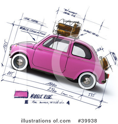Royalty-Free (RF) Car Clipart Illustration by Frank Boston - Stock Sample #39938